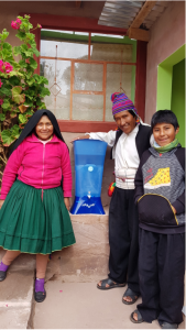 Nazava Water Filter in homestay in Peru. Reducing need for plastics.